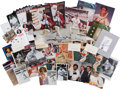 Autographs:Others, Stan Musial Signed Photographs, Magazines and More Lot of 33....