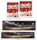 Baseball Collectibles:Others, 1998-09 Stan Musial Signed Posters & Photos Lot of 8....