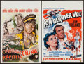 "Movie Posters:Adventure, Captain China & Other Lot (Paramount, 1950). Belgians (2) (14""X 20.75"", 13.75"" X 21.25""). Adventure.. ... (Total: 2 Items)"