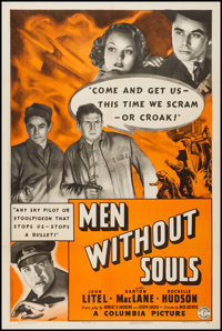 """Men without Souls (Columbia, 1940). One Sheet (27"""" X 41""""). Action"""