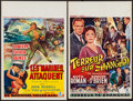 "Movie Posters:Mystery, The Shanghai Story & Other Lot (Republic, 1954). Belgians (2)(14"" X 21.75"", 14.5"" X 22""). Mystery.. ... (Total: 2 Items)"