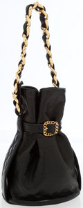 Luxury Accessories:Bags, Chanel Black Lambskin Bucket Bag . ...