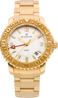 Timepieces:Wristwatch, Blancpain Very Fine Pink Gold GMT 24 Automatic Wristwatch. ...