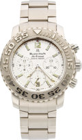 Timepieces:Wristwatch, Blancpain Rare 18k White Gold Air Command Automatic Chronograph Limited Edition No. 22/33. ...