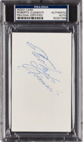 Autographs:Index Cards, 1960's Roberto Clemente Signed Index Card. ...