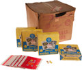 Baseball Cards:Unopened Packs/Display Boxes, 1960 Leaf Baseball 2nd Series Case, Empty Wax Boxes, Wrappers and Marbles. ...