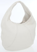 Luxury Accessories:Bags, Bottega Veneta White Leather Hobo Bag. ...
