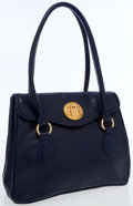 Luxury Accessories:Bags, Kleinberg Sherrill Blue Patent Leather Tote. ...