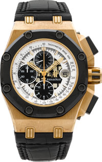 Audemars Piguet Rare & Very Fine Rose Gold Rubens Barrichello Royal Oak Offshore Chronograph No. 57/500