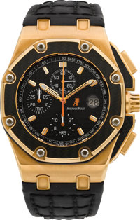 Audemars Piguet Rare Limited Edition Rose Gold Juan Pablo Montoya Royal Oak Offshore No. 314/500
