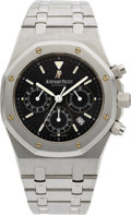 Timepieces:Wristwatch, Audemars Piguet Royal Oak Steel Automatic Chronograph. ...