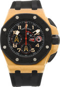Timepieces:Wristwatch, Audemars Piguet Rare Pink Gold Team Alinghi Limited Edition Royal Oak Offshore No. 264/600. ...