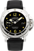 Timepieces:Wristwatch, Panerai Luminor Submersible Automatic, OP 6527 Steel Diver's Watch....