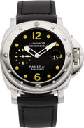 Timepieces:Wristwatch, Panerai OP 6506 Luminor Submersible Steel Automatic. ...