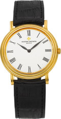 Timepieces:Wristwatch, Vacheron Constantin Ref. 33094 Gent's Ultra-thin Gold Wristwatch....