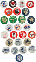 Football Collectibles:Others, Late 1960's Football Team Pins Complete Set (26). ...
