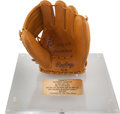Baseball Collectibles:Others, 1995 Mickey Mantle Rawlings Presentation Funeral Glove. ...