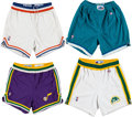Basketball Collectibles:Uniforms, 1990's NBA Game Issued and Used Shorts Lot of 4...