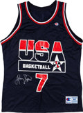 Basketball Collectibles:Uniforms, Larry Bird Signed Dream Team I Jersey....