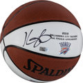 Basketball Collectibles:Balls, Kevin Durant Signed Commemorative Basketball. ...