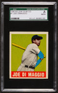 Baseball Cards:Singles (1940-1949), 1948 Leaf Joe DiMaggio #1 SGC Authentic. ...