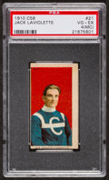 "Hockey Cards:Singles (Pre-1960), 1910 C56 ""Hockey Series"" Jack Laviolette #21 PSA VG-EX 4 (MC)...."