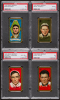 Baseball Cards:Lots, 1911 T205 Gold Border Baseball PSA Group (4). ...