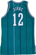 Basketball Collectibles:Uniforms, 1996-97 Vlade Divac Game Worn Charlotte Hornets Jersey....