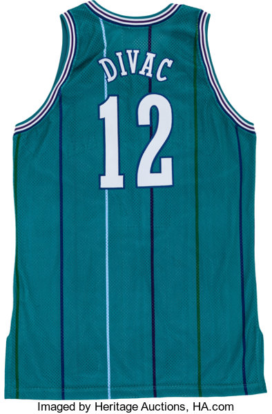 buy online 89ccd 4a7f5 1996-97 Vlade Divac Game Worn Charlotte Hornets Jersey ...