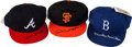 Baseball Collectibles:Hats, Hank Aaron, Duke Snider and Willie Mays Signed Caps Lot of 3....