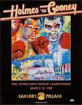 Boxing Collectibles:Autographs, Larry Holmes Vs. Gerry Cooney Multi Signed LeRoy Neiman FightPoster. ...
