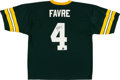 Football Collectibles:Uniforms, Brett Favre Signed Replica Green Bay Packers Jersey....
