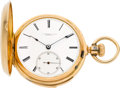Timepieces:Pocket (pre 1900) , Swiss Gold Minute Repeater For Tiffany Geneva, circa 1890. ...
