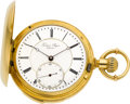 Timepieces:Pocket (pre 1900) , Frederic Sagne Geneva 18k Gold Minute Repeater, circa 1890. ...