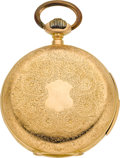 Timepieces:Pocket (pre 1900) , Swiss Ornate 18k Gold Minute Repeater, circa 1890. ...