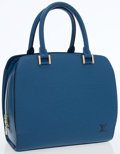 Luxury Accessories:Bags, Louis Vuitton Blue Epi Leather Pont Neuf Bag. ...