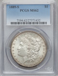 Morgan Dollars: , 1889-S $1 MS62 PCGS. PCGS Population (1271/5308). NGC Census:(844/2954). Mintage: 700,000. Numismedia Wsl. Price for probl...