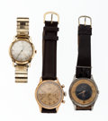 Timepieces:Wristwatch, A Lot Of Three Wristwatches For Parts Or Repair Runners. ...(Total: 3 Items)