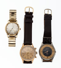 A Lot Of Three Wristwatches For Parts Or Repair Runners