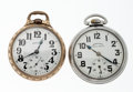 Timepieces:Pocket (post 1900), Illinois & Hamilton Traffic Special Pocket Open Face Pocket Watches. ... (Total: 2 Items)