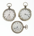 Timepieces:Pocket (pre 1900) , Three Key Wind Pocket Watches. ... (Total: 3 Items)
