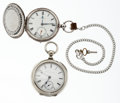 Timepieces:Pocket (pre 1900) , Illinois & Swiss 18 Size Key Wind Pocket Watches. ... (Total: 2Items)