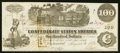Confederate Notes:1862 Issues, T39 $100 1862 PF 17 Cr. UNL.. ...