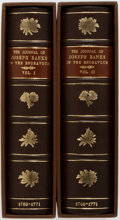 Books:World History, [Genesis Publications]. Joseph Banks. The Journal of JosephBanks in the Endeavour. Vol. I & II. Genesis Pub... (Total:2 Items)