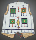 American Indian Art:Beadwork and Quillwork, A SIOUX BEADED HIDE VEST. c. 1885...