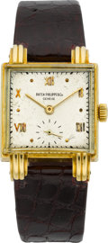 Timepieces:Wristwatch, Patek Philippe Ref 1567 Rare Vintage Watch With Fluted Lugs, circa 1940's. ...