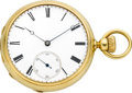 Timepieces:Pocket (pre 1900) , Patek Philippe & Co. Early Keyless Gold Pocket Watch, circa 1860. ...