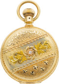 Timepieces:Pocket (post 1900), Elgin Choice 14k Multicolor Gold Cased 23 Jewel 18 Size Veritas, circa 1905. ...