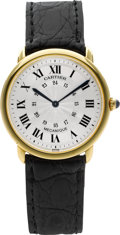 "Timepieces:Wristwatch, Cartier Ref. 0900 1 Gold ""Louis Cartier Ronde Solo"" Gent'sWristwatch. ..."