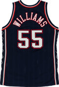 Basketball Collectibles:Uniforms, 1997-98 Jayson Williams Game Worn New Jersey Nets Jersey....
